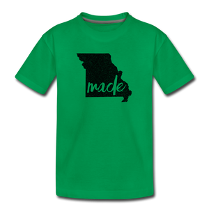 Made (Missouri black print) Kids' Premium T-Shirt - kelly green