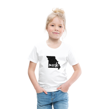 Load image into Gallery viewer, Made (Missouri black print) Toddler Premium T-Shirt - white