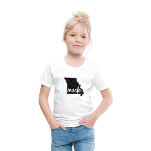 Made (Missouri black print) Toddler Premium T-Shirt - white