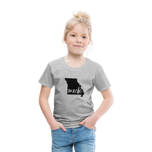 Load image into Gallery viewer, Made (Missouri black print) Toddler Premium T-Shirt - heather gray