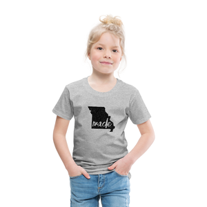 Made (Missouri black print) Toddler Premium T-Shirt - heather gray