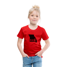 Load image into Gallery viewer, Made (Missouri black print) Toddler Premium T-Shirt - red