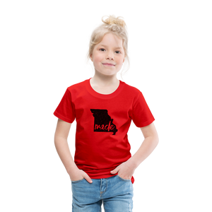 Made (Missouri black print) Toddler Premium T-Shirt - red