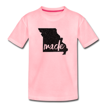 Load image into Gallery viewer, Made (Missouri black print) Toddler Premium T-Shirt - pink