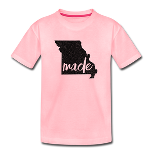Made (Missouri black print) Toddler Premium T-Shirt - pink