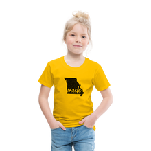 Load image into Gallery viewer, Made (Missouri black print) Toddler Premium T-Shirt - sun yellow