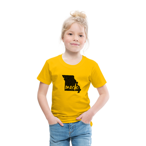 Made (Missouri black print) Toddler Premium T-Shirt - sun yellow
