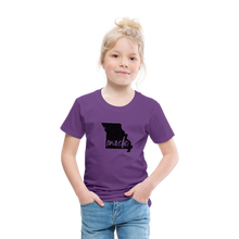 Load image into Gallery viewer, Made (Missouri black print) Toddler Premium T-Shirt - purple