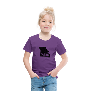 Made (Missouri black print) Toddler Premium T-Shirt - purple