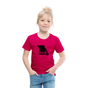 Made (Missouri black print) Toddler Premium T-Shirt - dark pink