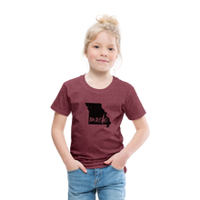 Load image into Gallery viewer, Made (Missouri black print) Toddler Premium T-Shirt - heather burgundy