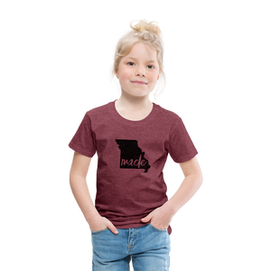 Made (Missouri black print) Toddler Premium T-Shirt - heather burgundy