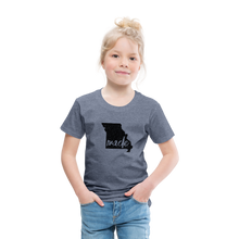 Load image into Gallery viewer, Made (Missouri black print) Toddler Premium T-Shirt - heather blue