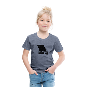 Made (Missouri black print) Toddler Premium T-Shirt - heather blue