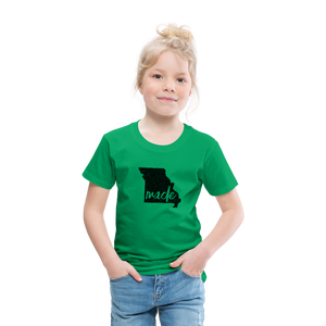 Made (Missouri black print) Toddler Premium T-Shirt - kelly green