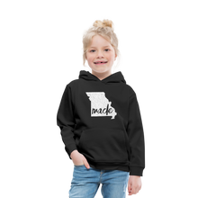 Load image into Gallery viewer, Made (Missouri white print) Kids' Premium Hoodie - black