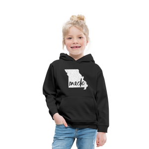 Made (Missouri white print) Kids' Premium Hoodie - black
