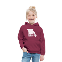 Load image into Gallery viewer, Made (Missouri white print) Kids' Premium Hoodie - burgundy