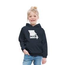 Load image into Gallery viewer, Made (Missouri white print) Kids' Premium Hoodie - navy