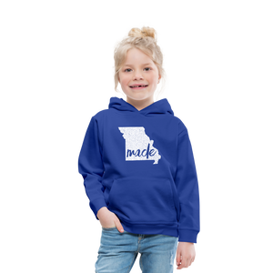 Made (Missouri white print) Kids' Premium Hoodie - royal blue