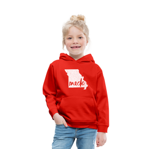 Made (Missouri white print) Kids' Premium Hoodie - red
