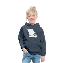 Load image into Gallery viewer, Made (Missouri white print) Kids' Premium Hoodie - heather denim
