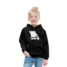 Load image into Gallery viewer, Made (Missouri white print) Kids' Premium Hoodie - charcoal gray