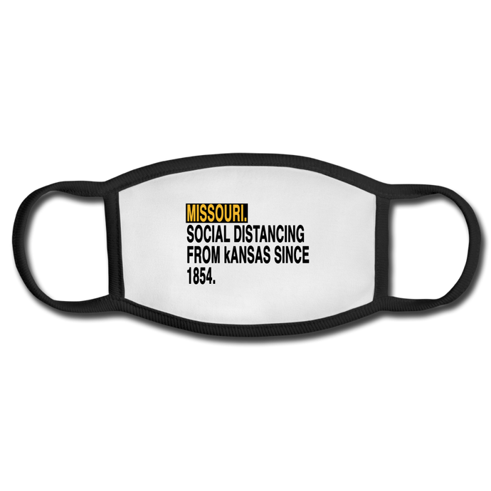 Social Distance Missouri-kansas - Face Mask - white/black