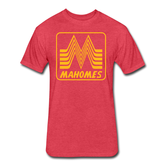 Mahomes Burger - Fitted Cotton/Poly T-Shirt by Next Level - heather red