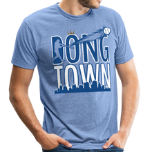 Load image into Gallery viewer, DongTown - Unisex Tri-Blend T-Shirt - heather Blue