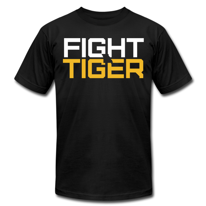 FIGHT TIGER - Unisex Jersey T-Shirt - black