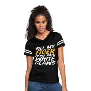 Fill My Tiger Paws with White Claws - Women's Vintage Sport T-Shirt - black/white