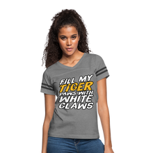 Load image into Gallery viewer, Fill My Tiger Paws with White Claws - Women's Vintage Sport T-Shirt - heather gray/charcoal