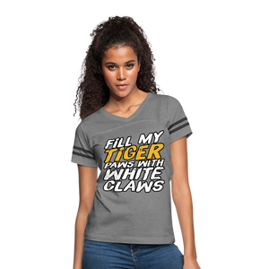Fill My Tiger Paws with White Claws - Women's Vintage Sport T-Shirt - heather gray/charcoal