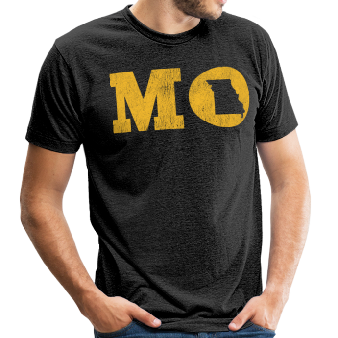 MO - Unisex Tri-Blend T-Shirt - heather black