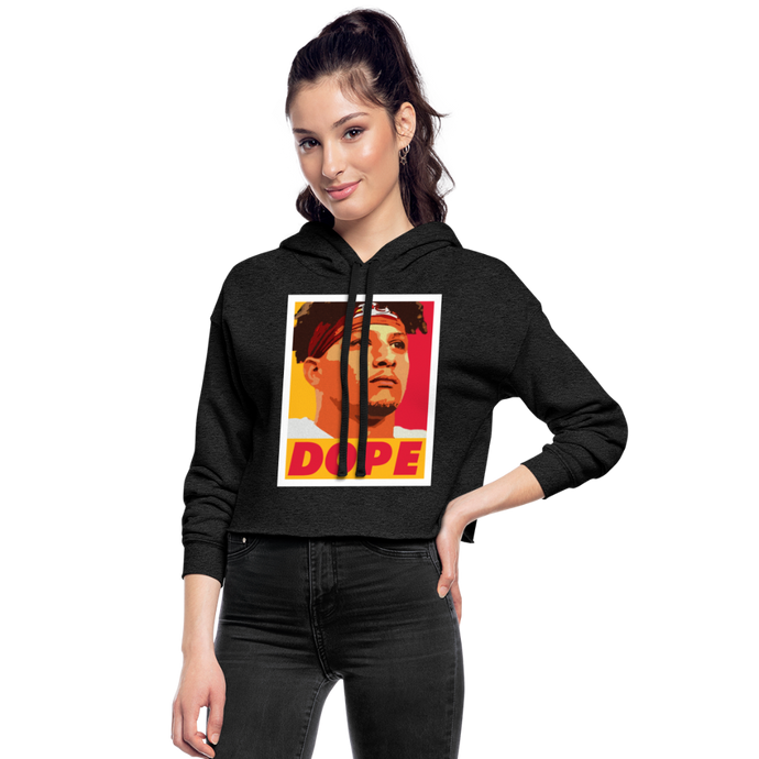 Pat is Dope II - Women's Cropped Hoodie - deep heather