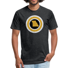 Load image into Gallery viewer, Captain Missouri Alt - Fitted Cotton/Poly T-Shirt by Next Level - heather black