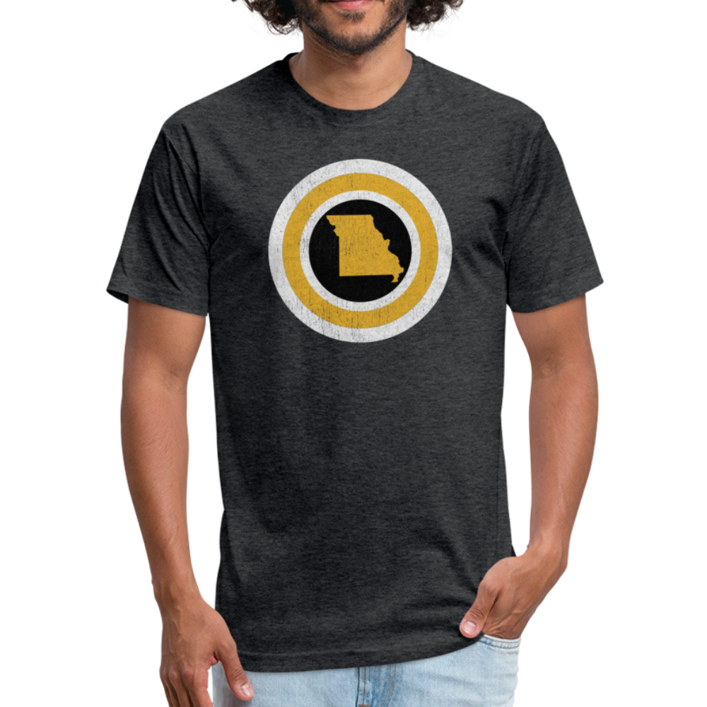 Captain Missouri Alt - Fitted Cotton/Poly T-Shirt by Next Level - heather black