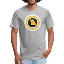 Load image into Gallery viewer, Captain Missouri Alt - Fitted Cotton/Poly T-Shirt by Next Level - heather gray