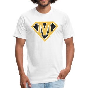 Super M - Fitted Cotton/Poly T-Shirt by Next Level - white