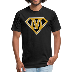 Super M - Fitted Cotton/Poly T-Shirt by Next Level - black