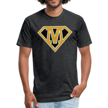 Load image into Gallery viewer, Super M - Fitted Cotton/Poly T-Shirt by Next Level - heather black