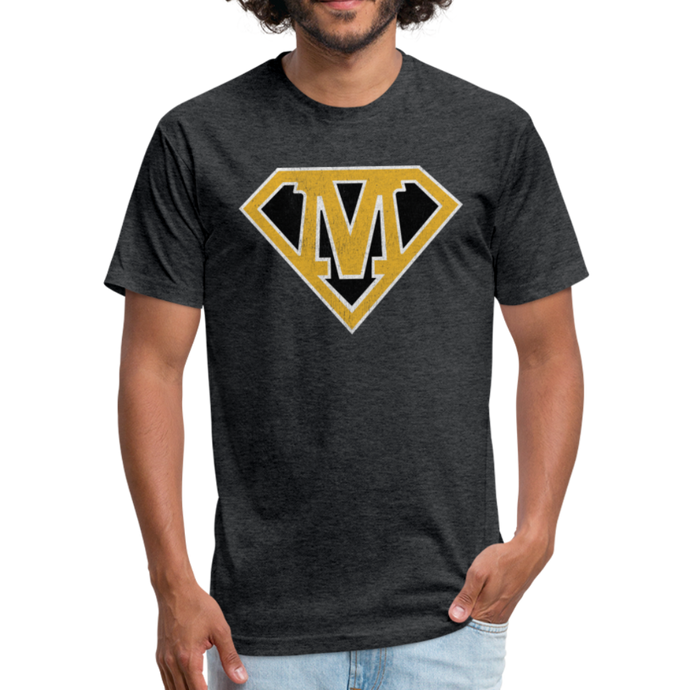 Super M - Fitted Cotton/Poly T-Shirt by Next Level - heather black