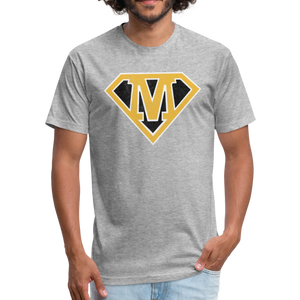 Super M - Fitted Cotton/Poly T-Shirt by Next Level - heather gray