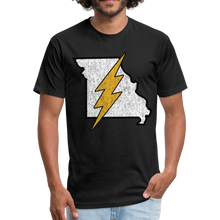 Load image into Gallery viewer, Missouri Flash - Fitted Cotton/Poly T-Shirt by Next Level - black