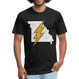 Missouri Flash - Fitted Cotton/Poly T-Shirt by Next Level - black