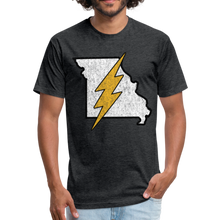 Load image into Gallery viewer, Missouri Flash - Fitted Cotton/Poly T-Shirt by Next Level - heather black