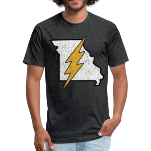 Missouri Flash - Fitted Cotton/Poly T-Shirt by Next Level - heather black