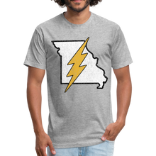 Load image into Gallery viewer, Missouri Flash - Fitted Cotton/Poly T-Shirt by Next Level - heather gray