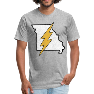 Missouri Flash - Fitted Cotton/Poly T-Shirt by Next Level - heather gray
